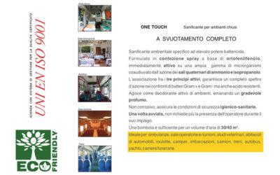 Sanificante ambientale per ambienti chiusi.