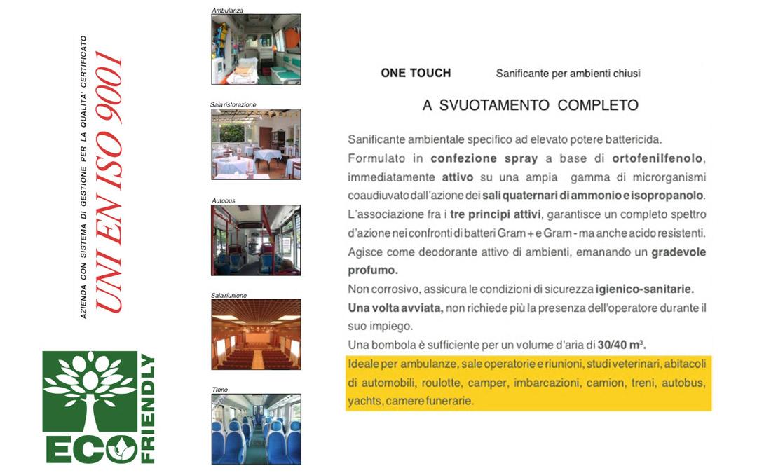 Sanificante ambientale per ambienti chiusi