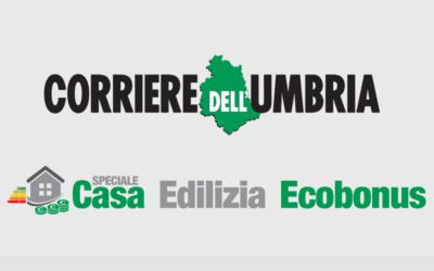 Sponsorizzazione all'interno dello Speciale Casa Edilizia Ecobonus del Corriere dell'Umbria.